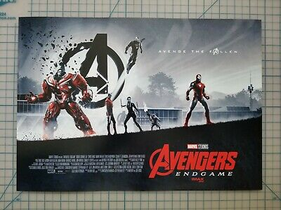 "Brand New AVENGERS ENDGAME WEEK 1 AMC IMAX MINI POSTER 11"" x 15.5 "" RARE Marvel"