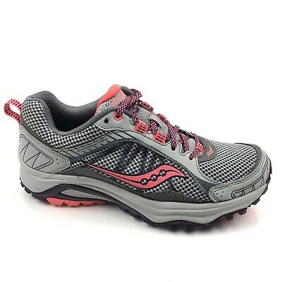 Saucony Grid Excursion TR9 Running Shoes for Women, BlueGreyBlackCoral