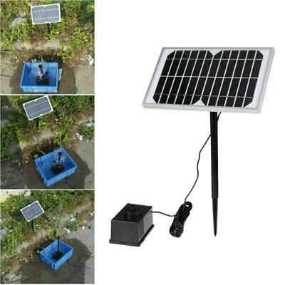 5W 280L/H Solar Power Fountain Garden Pond Pool Water Feature Submersible Pump