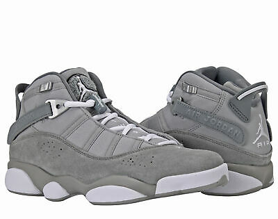 9088188d077a72 Nike Air Jordan 6 Rings BG Grey White Big Kids Basketball Shoes 323419-014