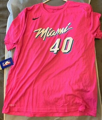 2477e1ad725 Udonis Haslem Miami Heat Sunset Vice Pink Nike Dri-Fit Shirt NWT Extra Large