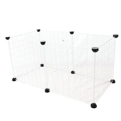 Wire Metal Pet Dog Rabbit Exercise Playpen Fence Cage 6 Panels White