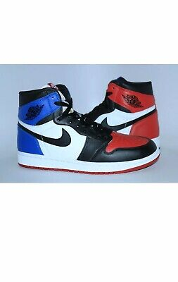 4ffccc0c076a0f Nike Air Jordan Retro 1 TOP 3 What The CHICAGO ROYAL BRED BLACK TOE sz 11