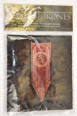 """Game of Thrones Lannister Tournament Banner 19.25x60"""" Hear Me Roar New [GS B]"""
