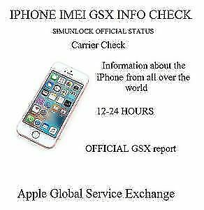 Apple iPhone Full GSX Carrier Report Including ICCID By IMEI [instant-1 Hour]