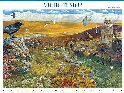 US 2003 Nature of America Arctic Tundra Sheet of Ten; 39 Cents, MNH Sc 3802