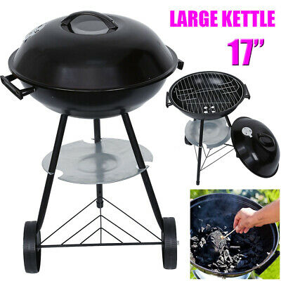 "17"" Large Kettle Bbq Barbecue Steel Grill Outdoor Charcoal Patio Portable"