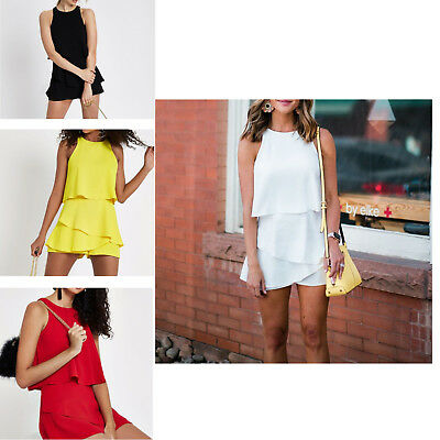 Summer Pant Fashionable Chiffon Sleeveless Sexy One-piece Dress For Girls Ladies