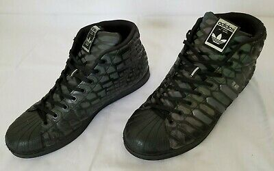 306198e4d1a01 Mens Size 11.5 Black Adidas Pro Model Xeno Basketball Shoes Q16534 preowned