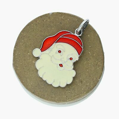 Santa Clause in Sleigh Sterling Silver 3D Charm Lot 71