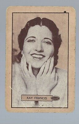 Vintage Swap Playing Card  Portrait of a beautiful lady Kay Francis Film Star