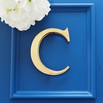 Brass Door Knocker Monogram Letter Initial 'C' Hamptons Coastal Classic Decor