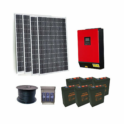 OFF GRID SYSTEM 1kw solar | 3000w inverter/charger | 50amp