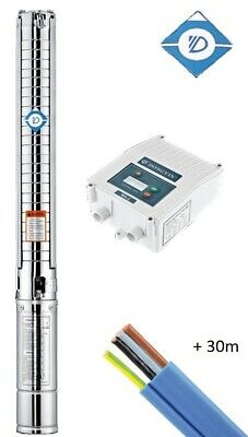 Submersible Multistage Bore Pump 240v | 6.6m3/Hr Flow or 76m Head | 30m Cable