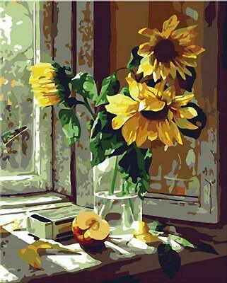 Paint By Number Kit Adults and Kids Diy Canvas on Oil Painting-Sunflower 16*20 ""