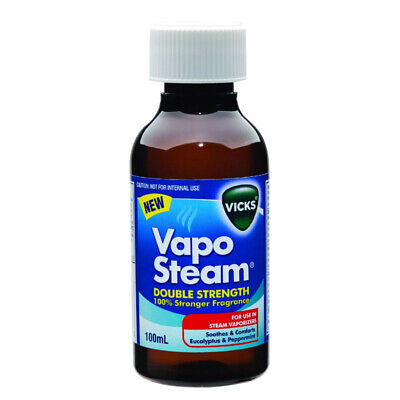 Vicks Vaposteam Double Strength Soothes & Comforts Colds Flu Cough Steam 100Ml