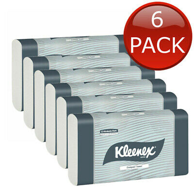 6 x KLEENEX COMPACT HAND PAPER TOWEL REFILL 90 SHEET OFFICE HOME CLEANING TOOLS