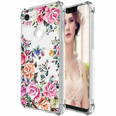 Google Pixel 3a 3aXL 3 3XL 2XL Flower Case Shockproof Rubber TPU Silicone Cover