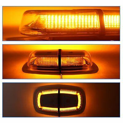 240 LED Amber Flashing Light Car Roof Lightbar Beacon Strobe Magnetic 9 ModeS
