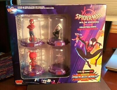 Marvel Spider-Man Into The Spider-Verse Collectible Mini 4 Pack Peter Parker