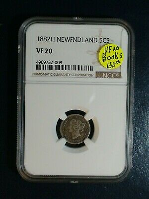 1882 H Newfoundland Five Cents NGC VF20 SILVER 5C Coin PRICED TO SELL NOW!