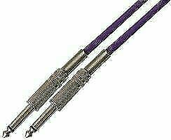5m Pulse 6.35mm Low Noise Guitar Cable PURPLE Lead - Genuine