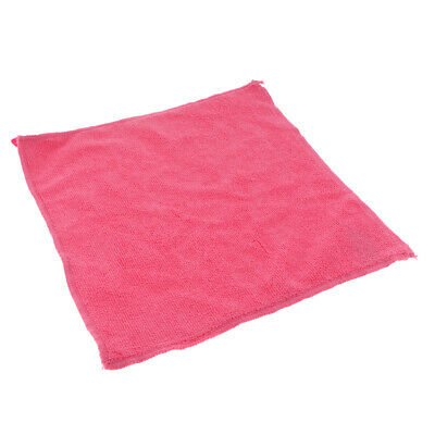 Microfiber Cleaning Towel Car Auto Dish Wash Dry Clean Polish Cloth Pink