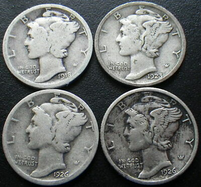 United States Silver Mercury & Roosevelt Dimes 1916 - 1964  **Choose Your Date**