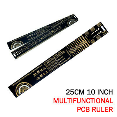 25cm/10 Inch Multifunctional PCB Ruler Measuring Tool Resistor Capacitor