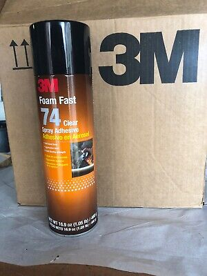 (2) Cans 3M Foam Fast 74 Clear Spray Adhesive 16.9 oz