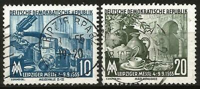 Germany (East) DDR GDR 1955 Used - Leipzig Autumn Fair - Mi-479-480 SG-E222-E223