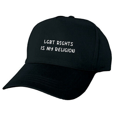 Lgbt Rights Is My Religion Black Baseball Cap Funny Hat