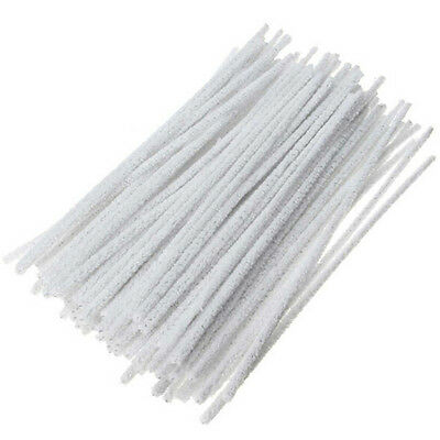 100Pcs Intensive Cotton Pipe Cleaners Smoking /Tobacco Pipe Cleaning Tool WhiteS