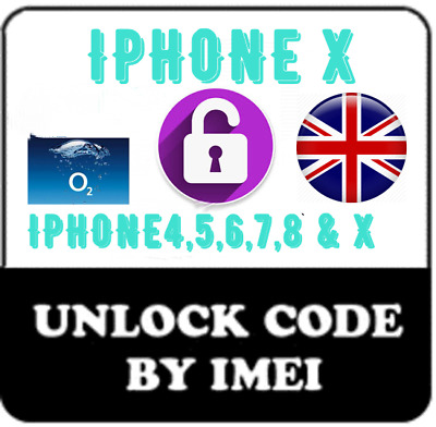 O2  Unlocking code Service for Iphone 8 Plus X iPhone 10 Ten Fast Unlock