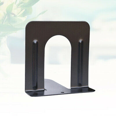 6pcs Bookends Non-skid Metal Durable Heavy Duty File Folder Book Rack for School