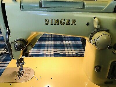 Vintage Singer Sewing Machine Model 319K With New Spool Pin Kit Tested And Works