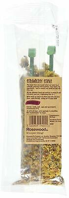 Rosewood Naturals Strawberry Sticks Small Animal Dry Pet Food Healthy Treat 120g