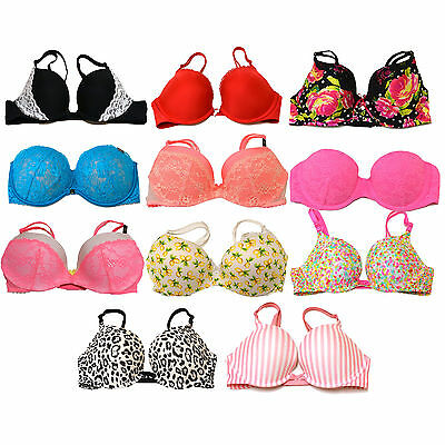 Victoria's Secret Bra Padded Push Up Lace Lingerie Sexy Victorias Vs New Nwt