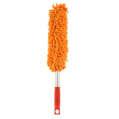Microfiber Hand Dust Cleaning Tool Washable Home Car TV Dusting Brush Orange
