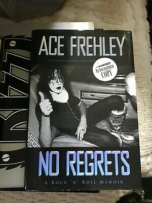 Kiss Ace Frehley Autographed No Regrets Book.hand Signed By Space Ace Himself