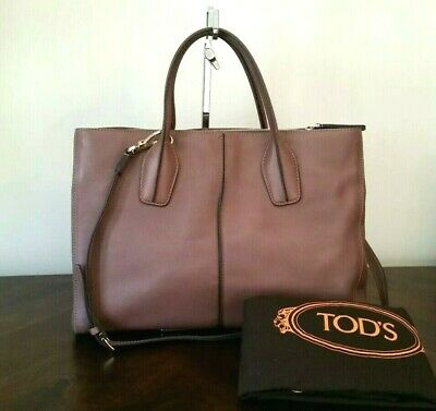 dec230dcdc Tods D Styling Bauletto Mauve Leather Medium Shopping Tote Hand Bag Auth  $1895