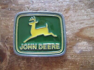 Vintage John Deere Pewter & Enamel Belt Buckle by Paul Frank USA Made