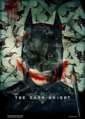 "The Dark Knight movie poster (d)  : 11"" x 17""  Batman poster - Christian Bale"