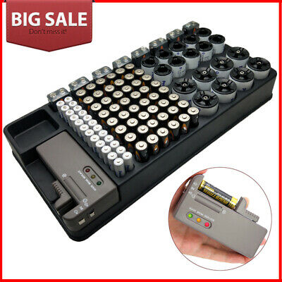 Battery Organizer and Tester Removable 100+ Batteries Wall Mount or Counter Top