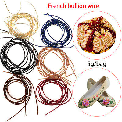 Sewing Machine french bullion wire Indian silk Embroidery Thread Cross Stitch
