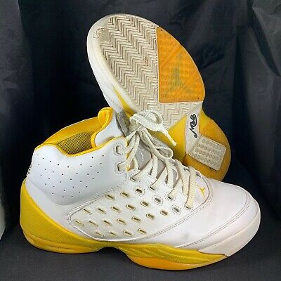new style 0d7b1 2fa96 Nike Air Jordan Melo 5.5 - 311813-103 - White Yellow - Men s Size 10.5