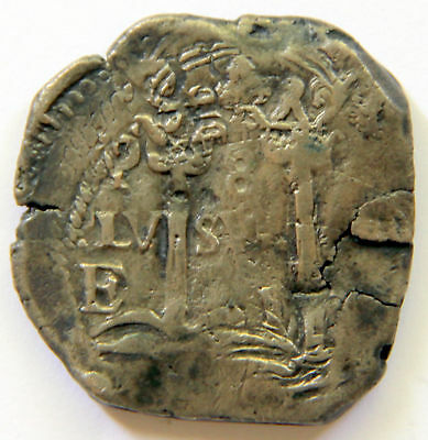 Awesome pirate cob & spanish colonial * Silver 8 Reales Potosi E 1657 * Rare!