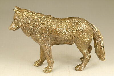 big chinese old bronze hand casting wolf statue figure collectable