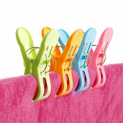 Plastic Thickened Large Windproof Clothes Laundry Drying Pin Quilt Peg Clip 5pcs