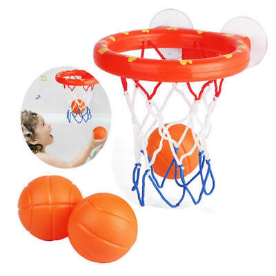 1 Set Bath Toy Basketball Hoop Suction Cup Mini Christmas Gift for Baby Kids new
